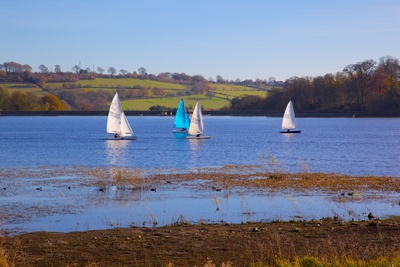 Sailing on Ogston Reservoir, Derbyshire Dales, Derbyshire, England, United Kingdom, Europe Photographic Print by Frank Fell