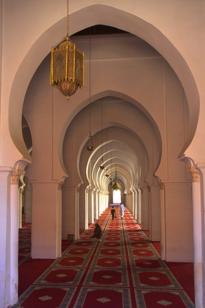 Interior of Koutoubia Mosque, Marrakech, Morocco, North Africa, Africa Photographic Print by Neil Farrin