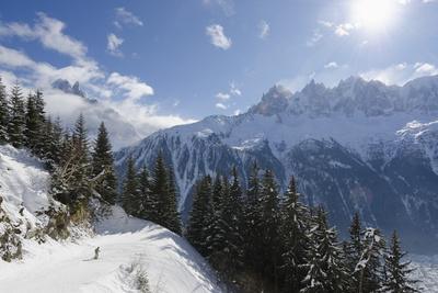 Brevant Ski Area, Aiguilles De Chamonix, Chamonix, Haute-Savoie, French Alps, France, Europe Photographic Print by Christian Kober