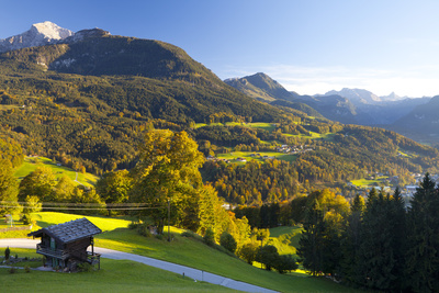 Overview of Berchtesgaden, Bavaria, Germany, Europe Photographic Print by Miles Ertman