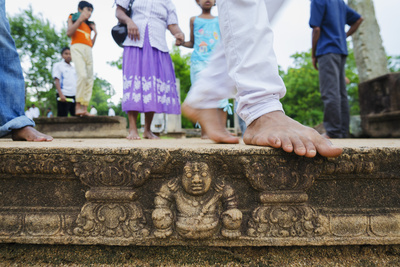 Carved Steps Detail, Mahasens Palace, Anuradhapura, UNESCO World Heritage Site, Sri Lanka, Asia Photographic Print by Christian Kober