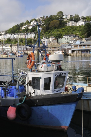 Fishing Boats Moored in Looe Harbour, Cornwall, England, United Kingdom, Europe Photographic Print by Nick Upton!