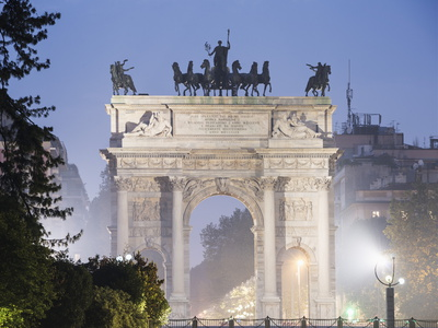 Arco Della Pace, Milan, Lombardy, Italy, Europe Photographic Print by Christian Kober