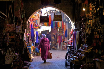 Souk, Marrakech, Morocco, North Africa, Africa Photographic Print by Neil Farrin