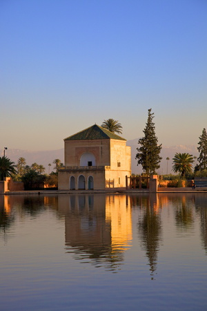 Menara Gardens, Marrakech, Morocco, North Africa, Africa Photographic Print by Neil Farrin
