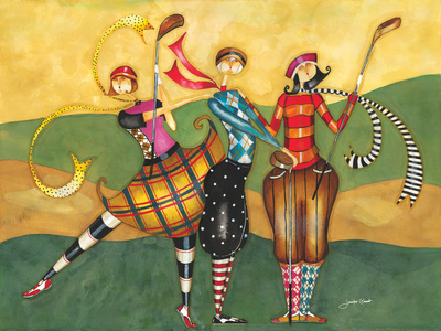 Golfing Girls Giclée-tryk af Jennifer Garant