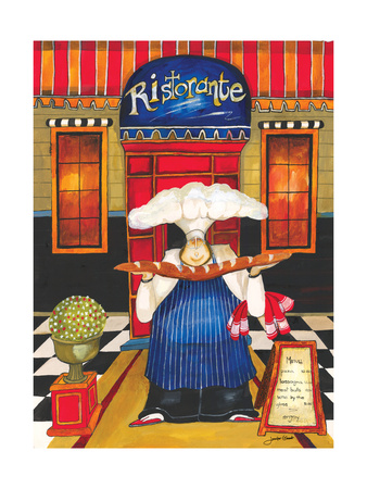 Chef at Ristorante Giclee Print by Jennifer Garant