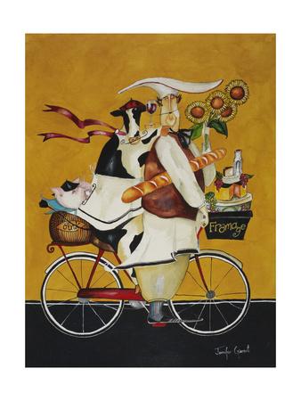 Cow Chef Giclee Print by Jennifer Garant