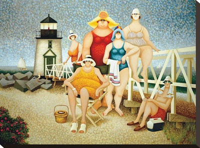 Beach Vacation Stretched Canvas Print by Lowell Herrero