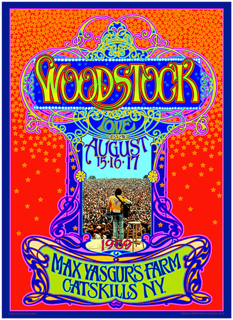 Woodstock 45th Anniversary Posters by Bob Masse