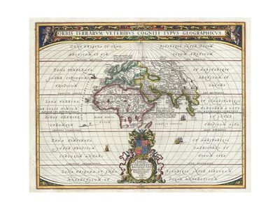Map of the Ancient World Giclee Print by Jan Janssonius