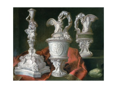 Still Life with Silver Candelabra and Ewers Giclee Print by Meiffren Conte