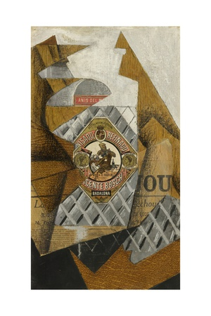 La Bouteille D'Anis (The Bottle of Anís Del Mono) Giclee Print by Juan Gris