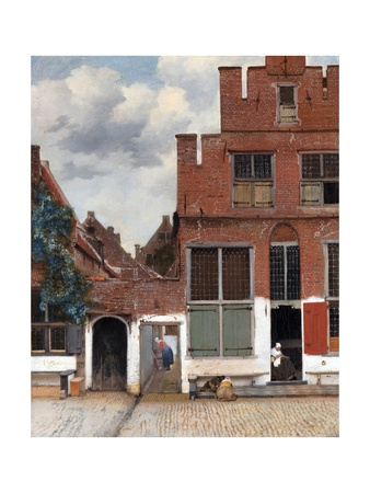 The Little Street (View of Houses in Delft) Giclee Print by Jan Vermeer