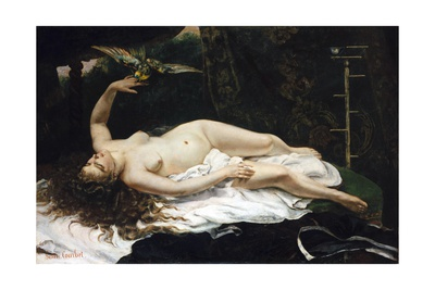 Woman with a Parrot Giclee Print by Gustave Courbet