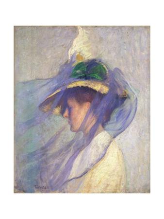 The Blue Veil Giclee Print by Edmund Charles Tarbell