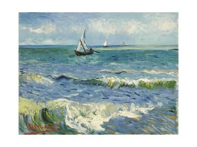 Seascape Near Les Saintes-Maries-De-La-Mer Giclee Print by Vincent van Gogh