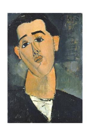 Portrait of Juan Gris Stampa giclée di Amedeo Modigliani
