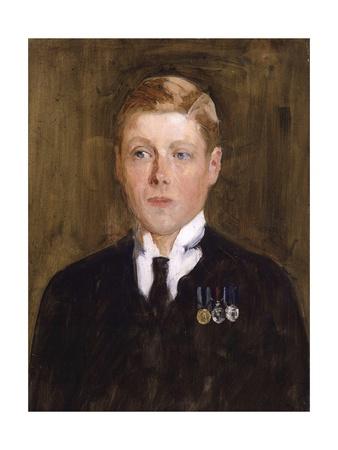 Portrait of Prince Edward, Duke of Windsor, King Edward VIII Giclee Print by Solomon Joseph Solomon