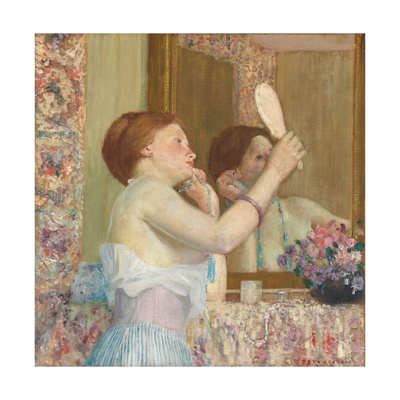 Woman with a Mirror Giclee Print by Frederick Carl Frieseke