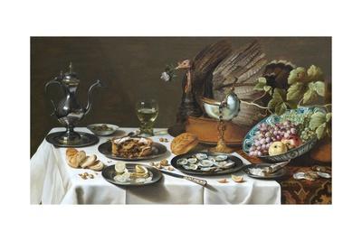 Still Life with Turkey Pie Giclee Print by Pieter Claesz