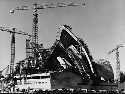 Sydney Opera House under Construction Photographic Print