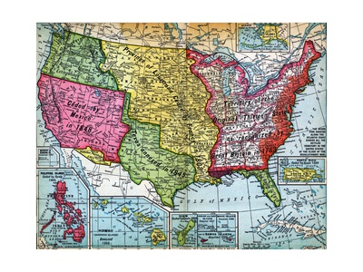 Map of United States Expansion Giclee Print
