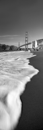 Suspension Bridge across a Bay, Golden Gate Bridge, San Francisco Bay, San Francisco Photographic Print