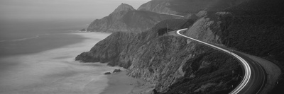 Dusk Highway 1 Pacific Coast Ca USA Fotografisk tryk
