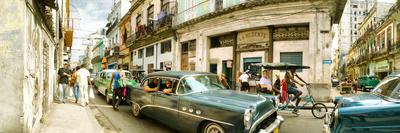 Old Cars on a Street, Havana, Cuba Photographic Print