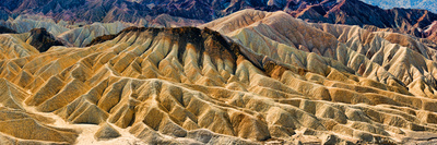 Rock Formation on a Landscape, Zabriskie Point, Death Valley, Death Valley National Park Photographic Print