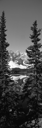 Lake in Front of Mountains, Banff, Alberta, Canada Photographic Print