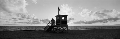 Lifeguard Hut on the Beach, 22nd St. Lifeguard Station, Redondo Beach, Los Angeles County Photographic Print