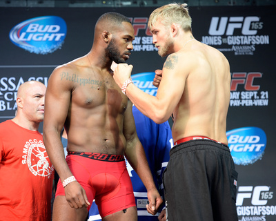 UFC 165 Weigh-In: Sept 20, 2013 - Jon Jones vs Alexander Gustafsson Photo by Jeff Bottari