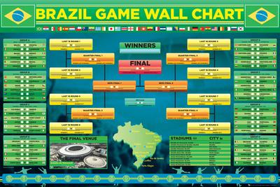 Brazil Soccer Football Wall Chart Poster