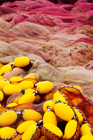 Commercial Fishing Nets with Floats, Port-Vendres, Vermillion Coast, Pyrennes-Orientales Photographic Print by Green Light Collection