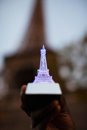 Close-Up of a Souvenir Miniature Eiffel Tower Lamp, Paris, Ile-De-France, France Photographic Print by Green Light Collection