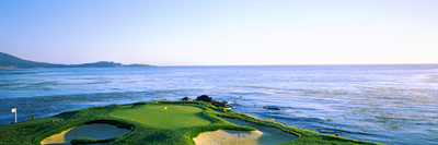 Sand Traps in a Golf Course, Pebble Beach Golf Course, Pebble Beach, Monterey County Photographic Print