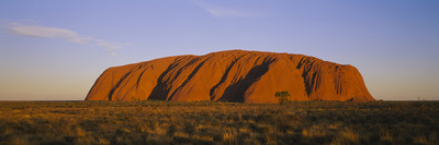 Rock Formations on a Landscape, Ayers Rock, Uluru-Kata Tjuta National Park, Northern Territory Photographic Print