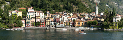 Late Afternoon View of Waterfront at Varenna, Lake Como, Lombardy, Italy Photographic Print