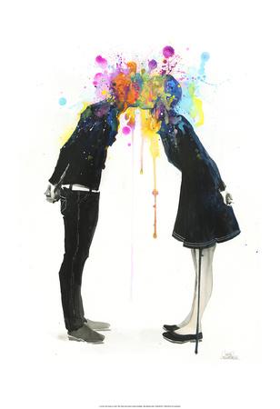Big Bang Kiss Posters by Lora Zombie