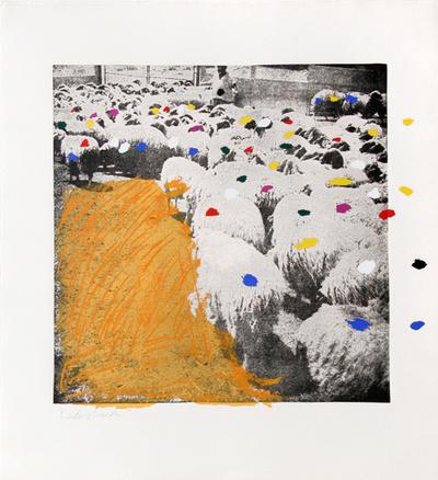 Sheep Portfolio 6 Limited Edition by Menashe Kadishman