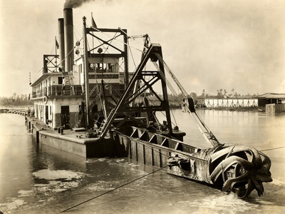 Hydraulic Dredge Photographic Print