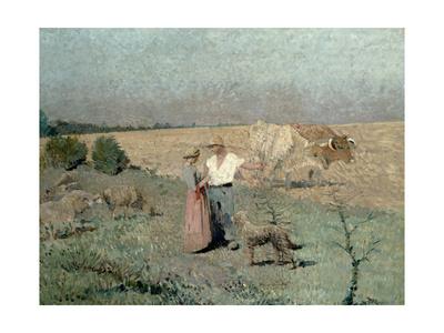 The Shepherds Lámina giclée por Henri Martin