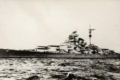 The German Battleship Bismarck of the German Kriegsmarine During Early World War II Photographic Print