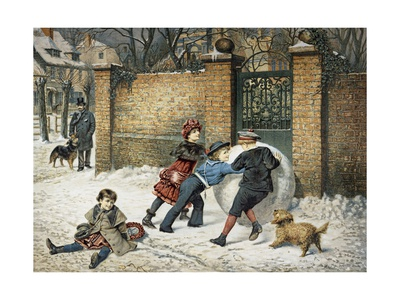 A Giant Snowball Giclee Print by William Weekes
