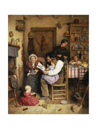 A Family Gathering Giclee Print by Joseph Clark