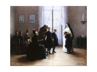 Joining the Convent Giclee Print by Jeanne Rongier