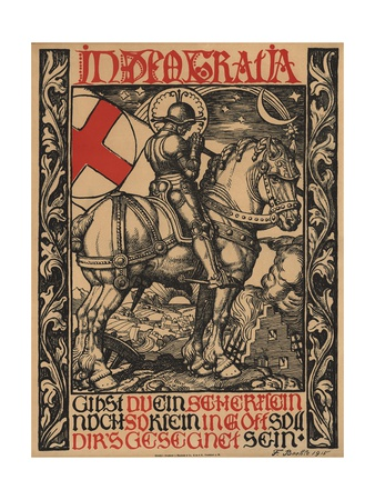 In Deo Gratia World War I Poster Gicléetryck av Fritz Boehle
