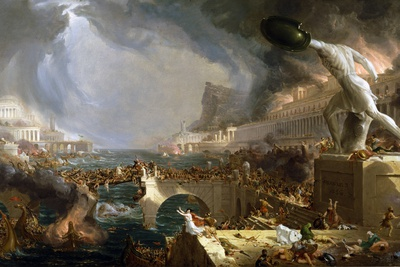 The Course of Empire - Destruction Giclee Print by Thomas Cole